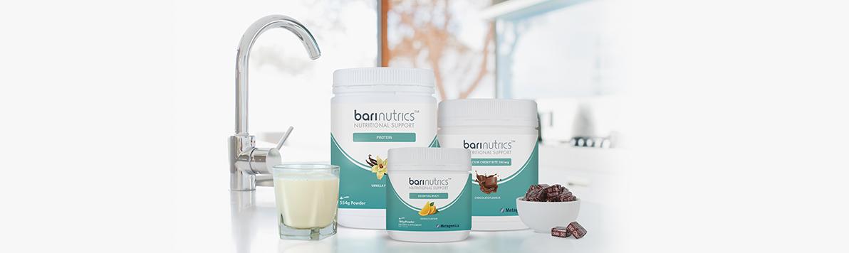 Barinutrics Product Range shot